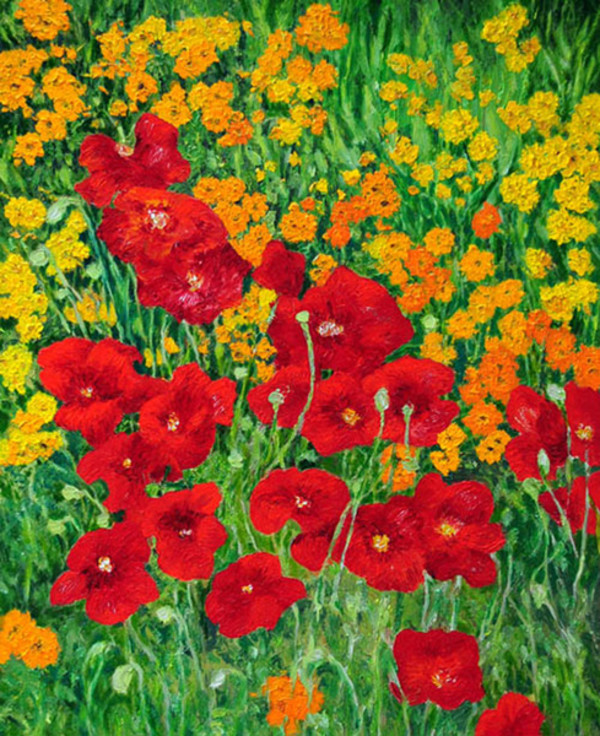 Red Poppies by Merrilyn Duzy