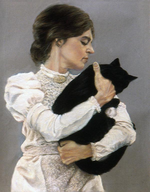 Women With Cat (aka Merrilyn Duzy as Cecilia Beaux) by Merrilyn Duzy