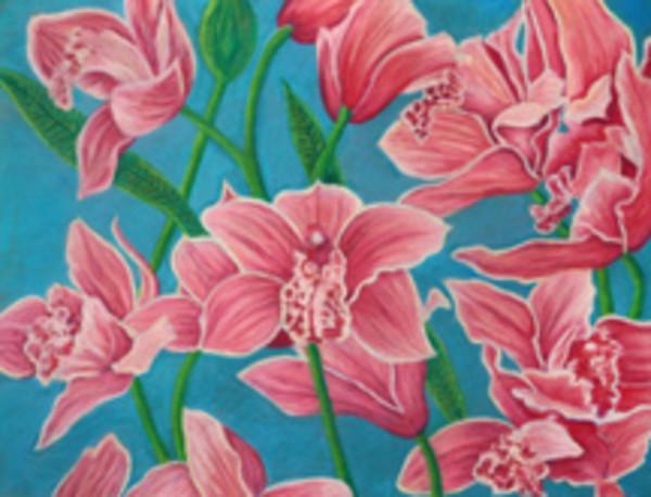 Pink Flowers by Merrilyn Duzy