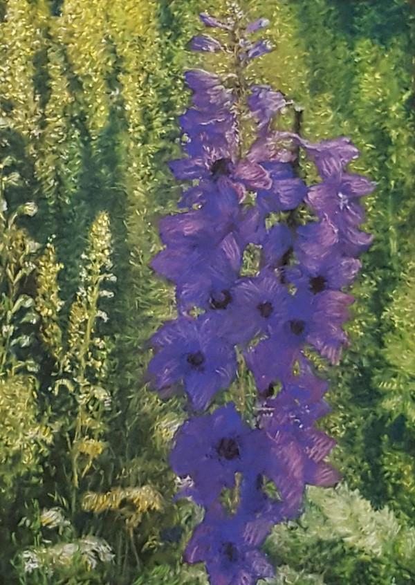 Purple Delphinium by Merrilyn Duzy
