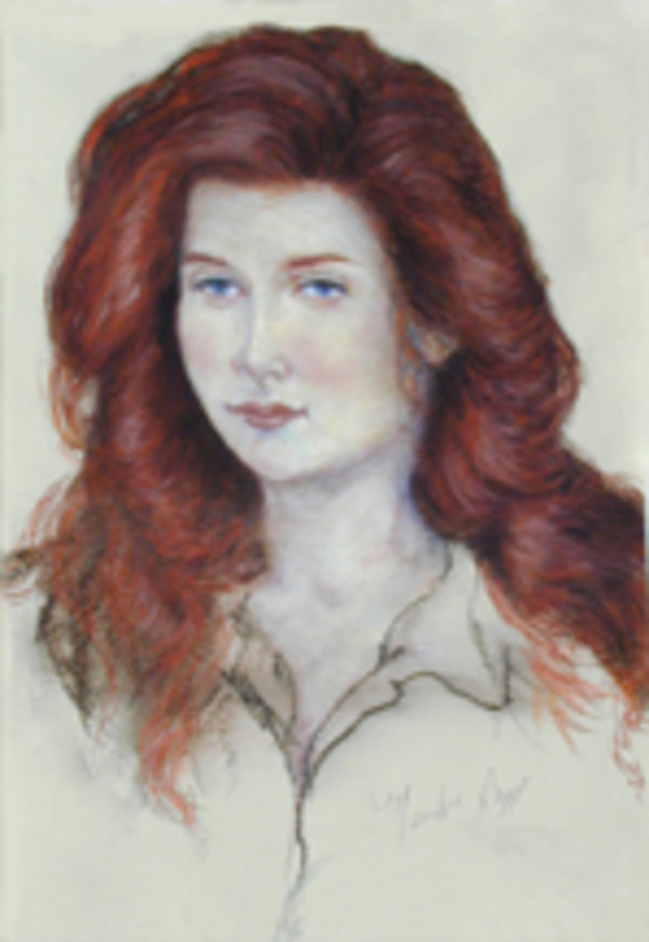 Red Head II (Lynn Stadum) by Merrilyn Duzy