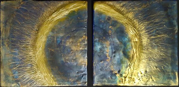 Solar Wind Diptych by Merrilyn Duzy