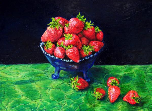 Strawberries by Merrilyn Duzy