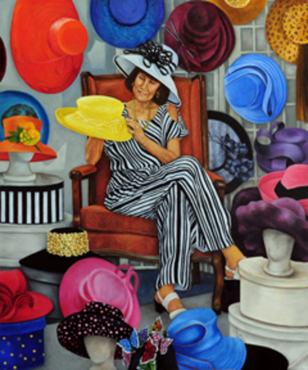 The Hat Lady (Judy Packard) by Merrilyn Duzy