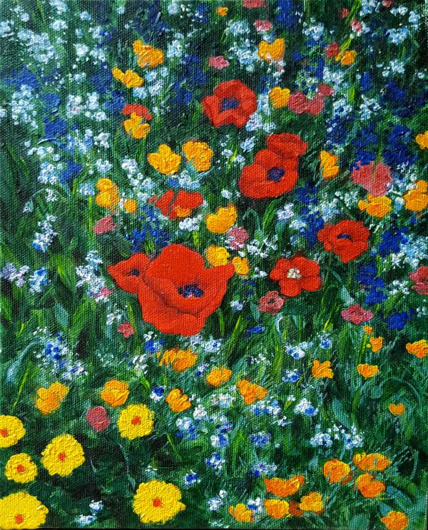 Wildflowers in My Garden by Merrilyn Duzy