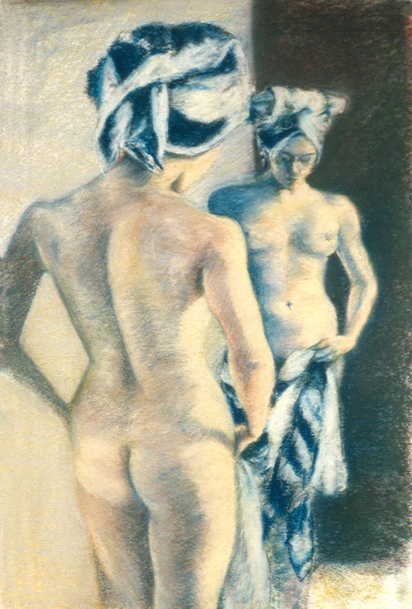 Woman at her Bath by Merrilyn Duzy
