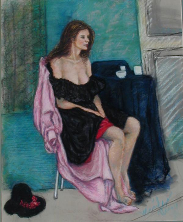 Woman in Black: 3am by Merrilyn Duzy