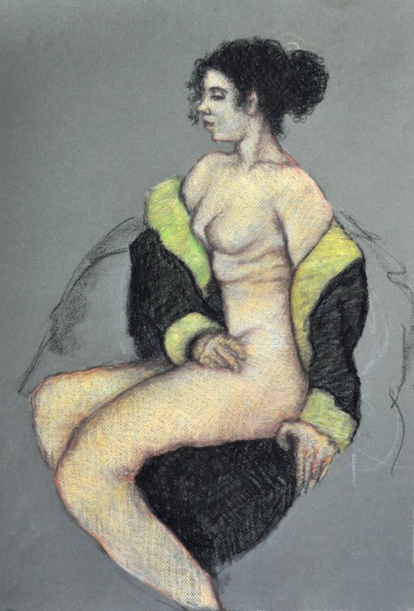 Woman in Black & Chartreuse by Merrilyn Duzy