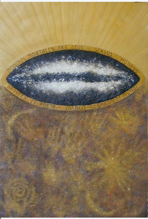 Cosmic Series #5 (Hands & Suns) by Merrilyn Duzy