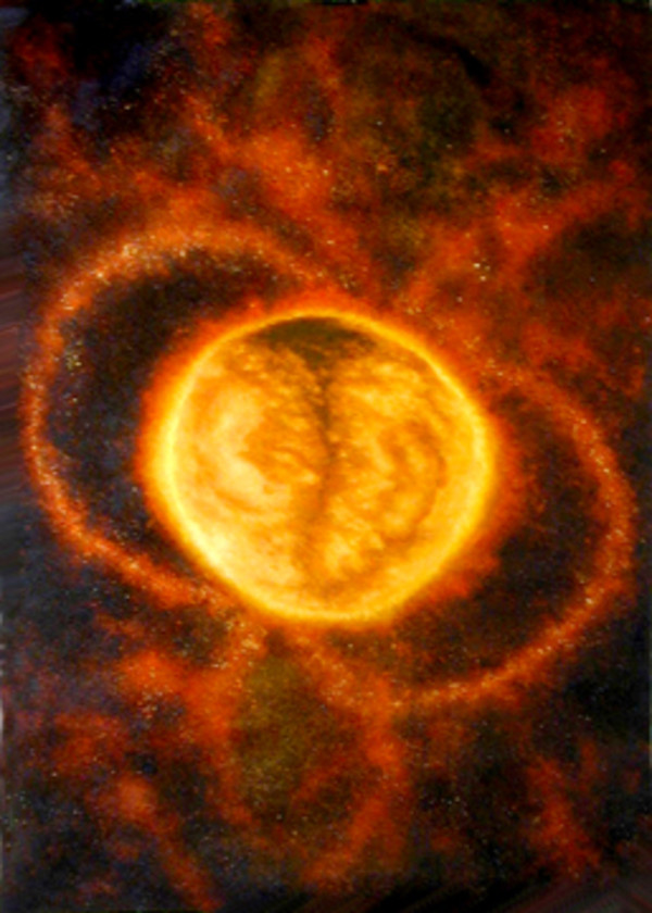 Cosmic Series #7 (Sun/Foetus) by Merrilyn Duzy