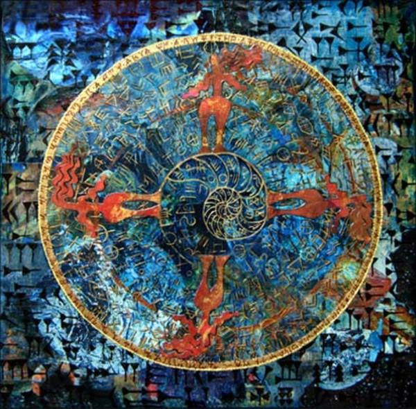 Language Palimpsest: Spiral Dance by Merrilyn Duzy