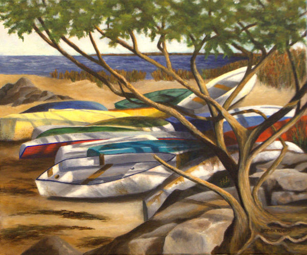BOATS IN THE SHADE by Brenda Francis