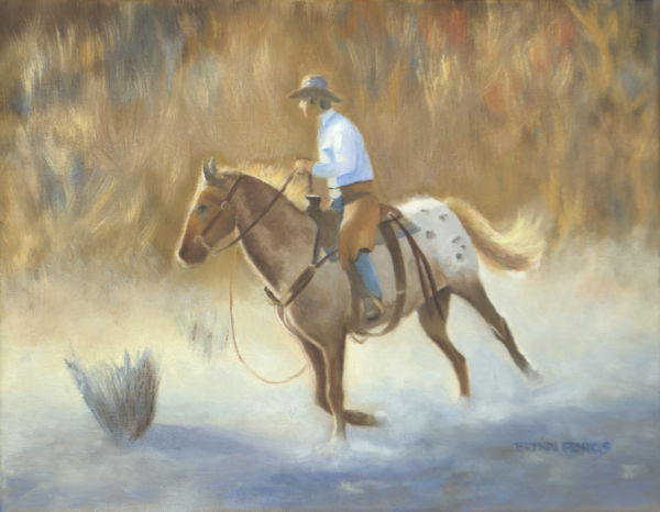 THE WESTERN HORSEMAN:  Tom Browning Paint Along by Brenda Francis