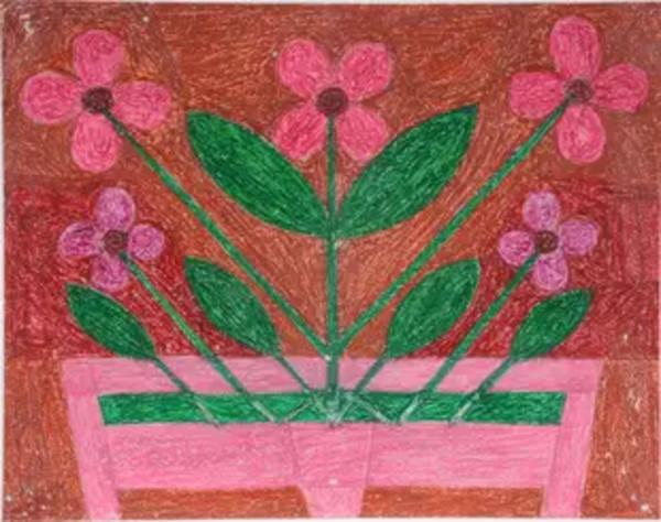 Flowers by Eddie Arning