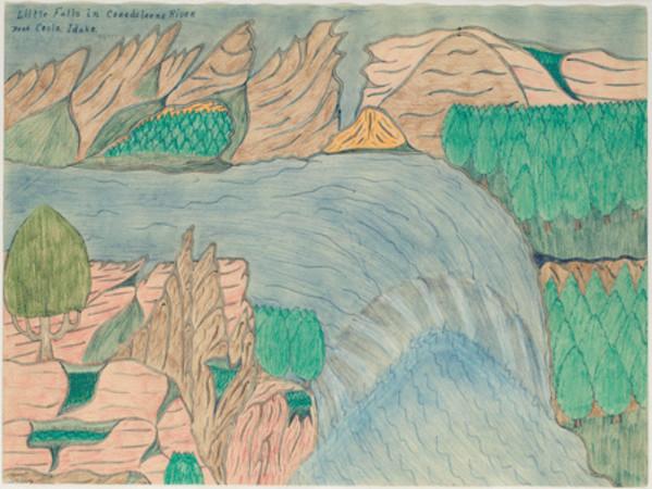 Little Falls in Coredeleene River near Coslo, Idaho by Joseph Yoakum