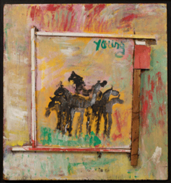 Untitled (Horses) by Purvis Young