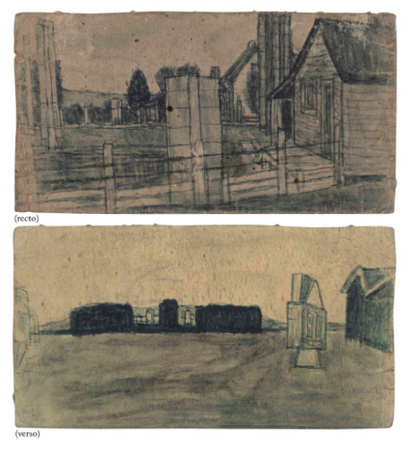 Untitled (Farmscape Double Sided) by James Castle