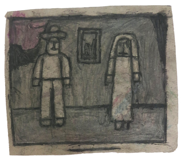 Untitled (Two Figures) by James Castle