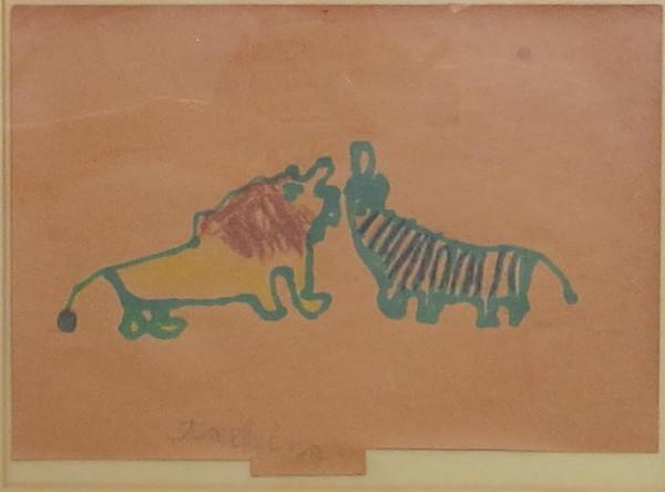 Tiger & Zebra by Unidentified