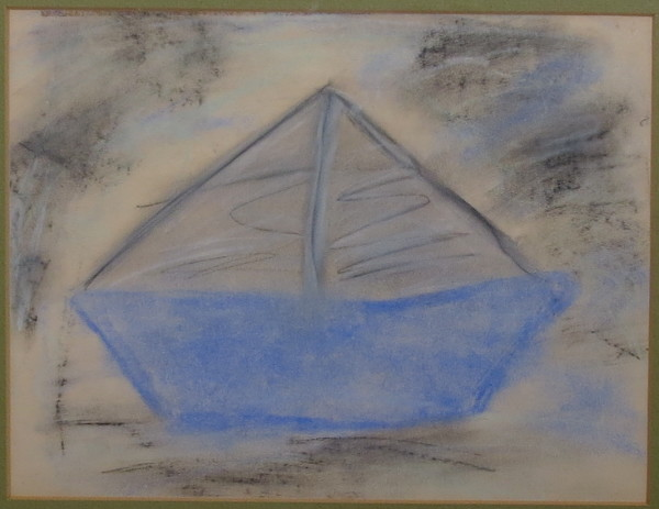 Blue Boat by Unidentified