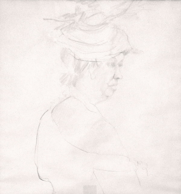 Women in Hat by Unidentified