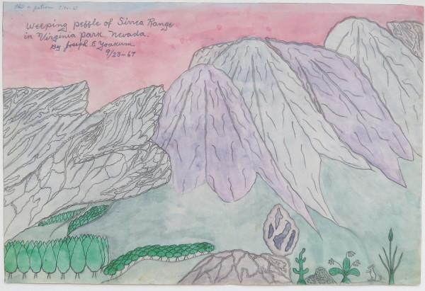 Weeping Pebble of Sirrea Range in Virginia Park Nevada by Joseph Yoakum