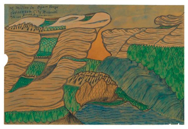 Mt Willow in Ozark Range / Jefferson City Missouri by Joseph Yoakum