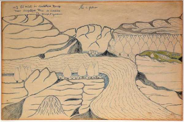 Mt. El Miti In Cordillera Range Near Arequipa Peru So. America (this a pattron (sic)) by Joseph Yoakum