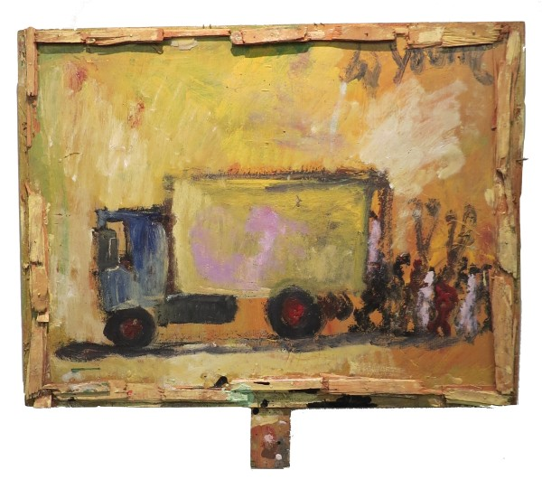 Untitled (Truck & Protesters) by Purvis Young