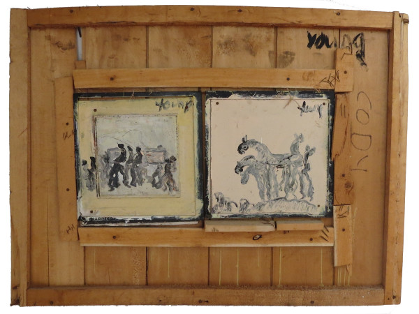 Untitled (Funeral & Horses) by Purvis Young