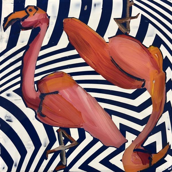 Flamingo Duo III (Collaboration with Dana Blickensderfer) by Sean Christopher Ward