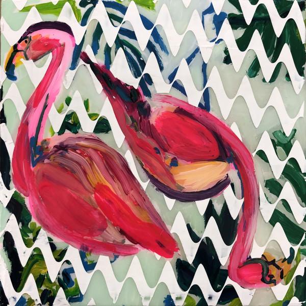 Flamingo Duo II (Collaboration with Dana Blickensderfer) by Sean Christopher Ward