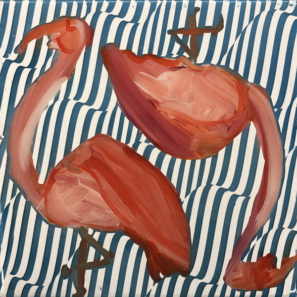 Dana Blickensderfer Collaboration - Flamingo Duo I by Sean Christopher Ward