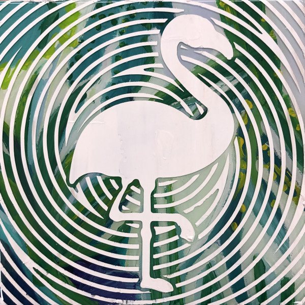 Flamingo Silhouette (Collaboration with Dana Blickensderfer) by Sean Christopher Ward
