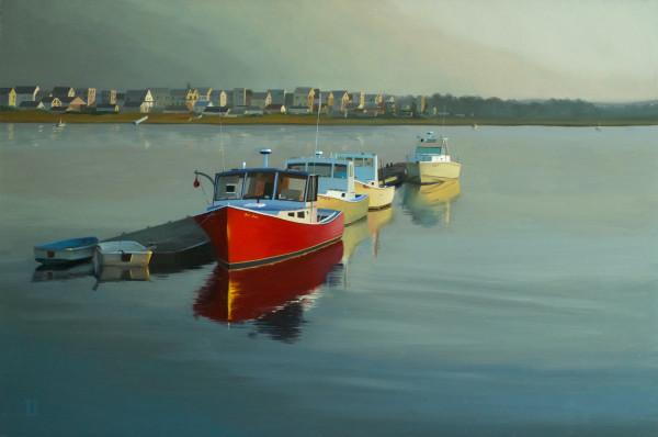Wells Harbor Sunset by Paul Beckingham