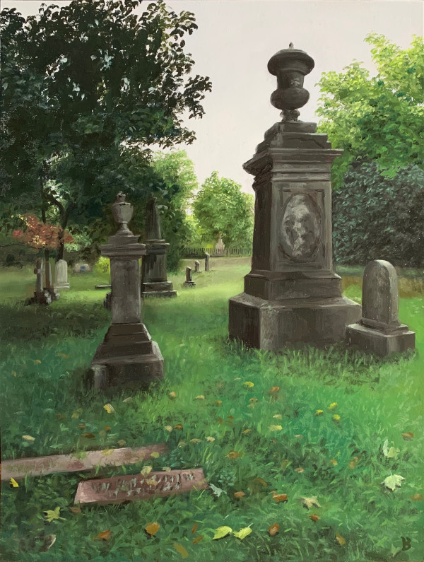 After the Fog (the grave of Winslow Homer) by Paul Beckingham