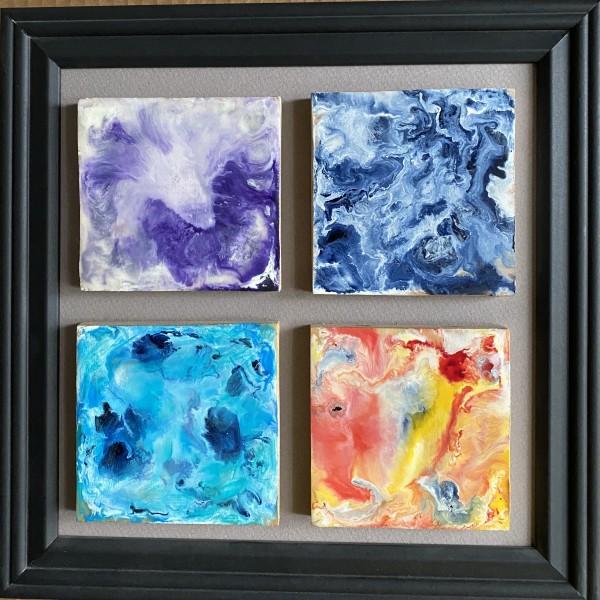 Encaustic 4 Tile piece by Kathie Collinson