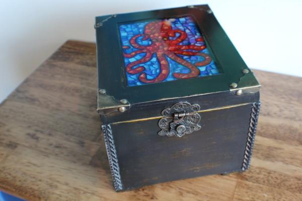 Octopus Mosaic Trinket Box by Heather Medrano