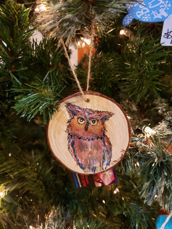 Wood Slice Ornaments by Heather Medrano