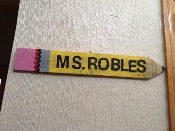 Teachers name plaque by Heather Medrano