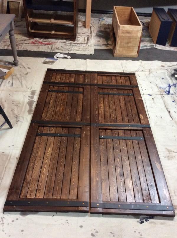 Handmade closet Barn door with repurposed wood. by Heather Medrano