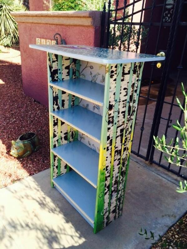 Birch bookshelf by Heather Medrano