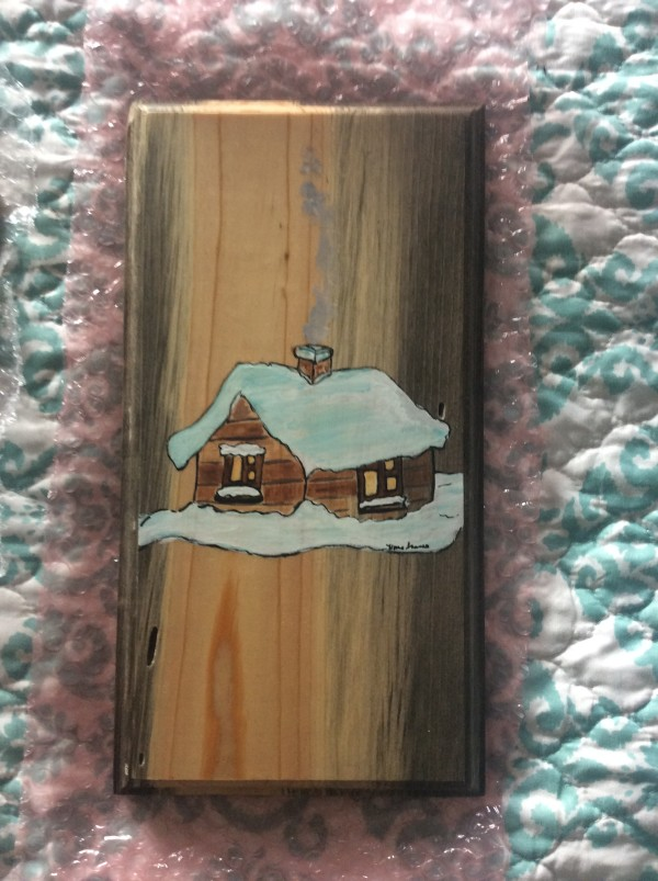 Winter cabin solo on beetlekill lumber by Heather Medrano