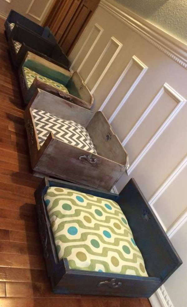 Raised Dog Beds Made with all re-purposed wood by Heather Medrano
