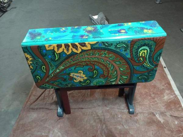 Drop leaf Antique Paisley/Peacock by Heather Medrano