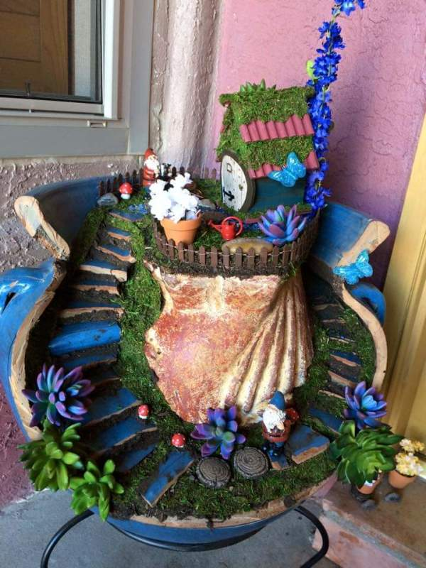 Gnome Plant Sculpture by Heather Medrano