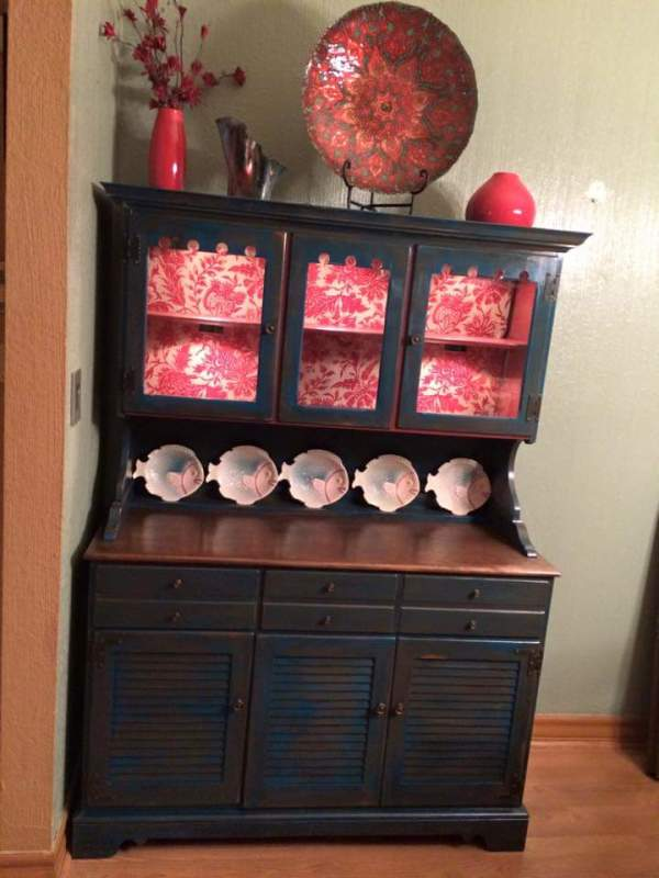 Antique China cabinet by Heather Medrano
