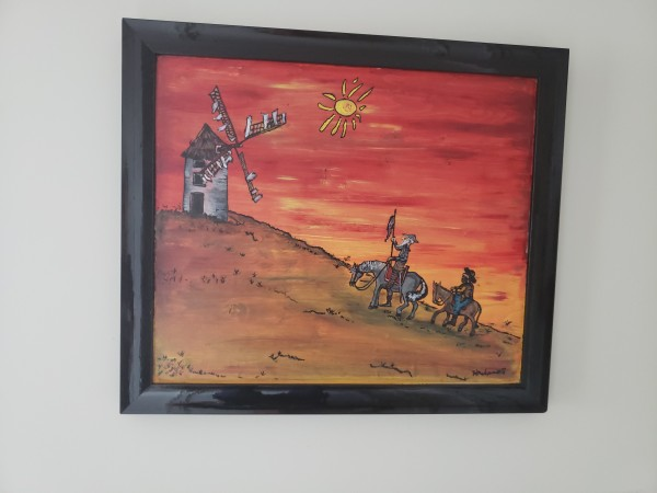 Don Quixote sunset in stain #8 of 75 by Heather Medrano