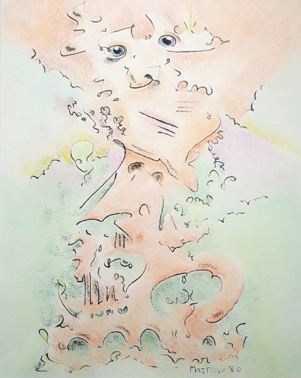 Days of Lamentation, the colored drawing by Dave Martsolf
