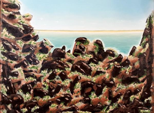 Breakwater Rockpile by Dave Martsolf